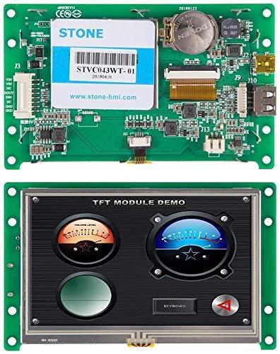 Pantalla Módulo HMI TFT LCD de 4,3 Pulgadas con Controlador Táctil del Programa de Interfaz en Serie UART