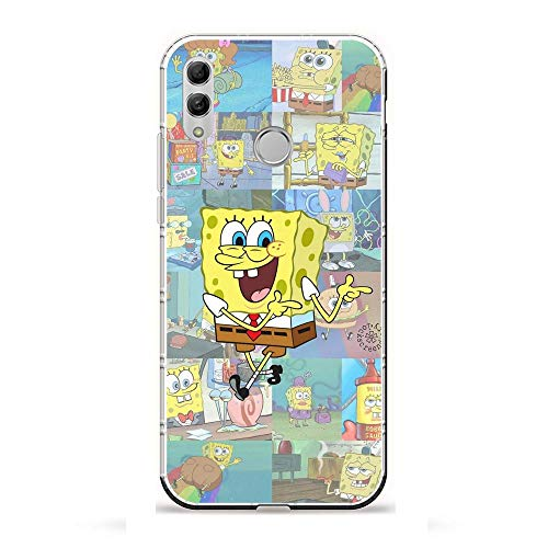 LUOKAOO Ultra TPU Silicone Rubber Gel Edge Protection Cover Case for Huawei P Smart 2019/Honor 10 Lite-Spongebob-Squarepants Patrick-Star 7