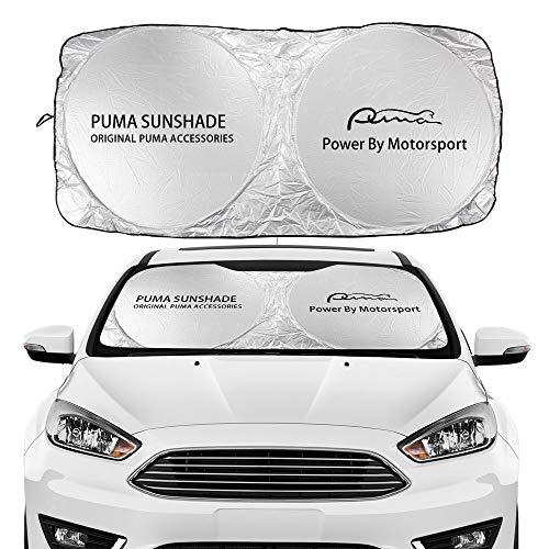 Parasol Coche Parabrisas de Coches Cubierta de sombrilla Compatible con Ford C-MAX Expedition Fiesta FIGO Flex Galaxy GT KA Puma Ranger S-MAX Transit Auto Auto Accesorios Cortina de Malla para Coche
