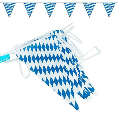 goodymax® Wimpelkette 10m Bavaria / Bayern-Raute / Blau-Weiß - viele weitere Farben & Farbkombinationen zur Auswahl