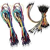HUAZIZ 195Piezas Jumper Cable, Alambres Flexibles de Puente para Tableros de Soldadura Sin Soldadura 4 Different Lengths Male to Male para Arduino Breadboard