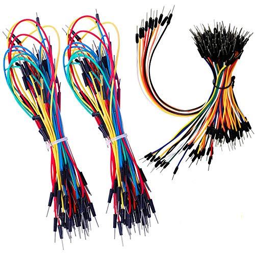 HUAYAO 3 x Breadboard Jumper Wires Assorted Kit, Cavetti Jumper Filo, 65 Cavetti di Vari Colori e Varie Misure da Utilizzare in Elettronica