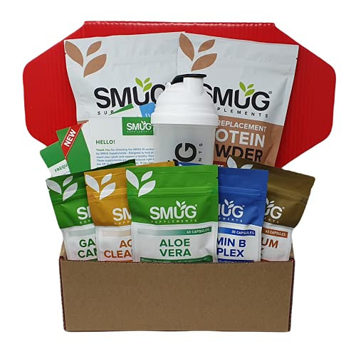 Smug 30 Package by SMUG Supplements - 30 Day Weight Loss Plan with Slimming...