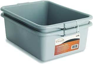 NUCU Artisan Utility Bus Box and Storage Bin with Handles, 2-Pack