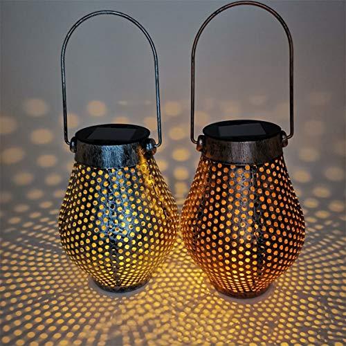 Shhjjyp Solar Lanterns Lights Outdoor Ornaments Solar Table Hanging Lights for Garden Patio Yard Park(2 Pack)
