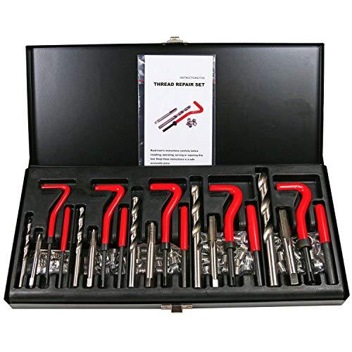 Best Q 131 Stück Abisoliertes Gewinde ReThread Recoil Repair Kit metrisch M5 M6 M8 M10 M12