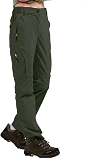 Aiegernle Women's Outdoor Quick Dry Convertible Pants Water-Resistant Hiking Fishing Zip Off Cargo Pants Trousers