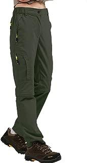 Jessie Kidden Hiking Pants Women, UPF 50 Stretch Quick Dry Lightweight Convert to Shorts Cargo Pants with Belt