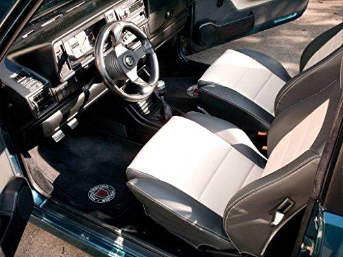 seatcovers by k-maniac Sitzbezüge Golf 1 Cabrio Vordersitze Rückbank Türverkleidungen Sitzbezug Ledersitze schwarz-beige