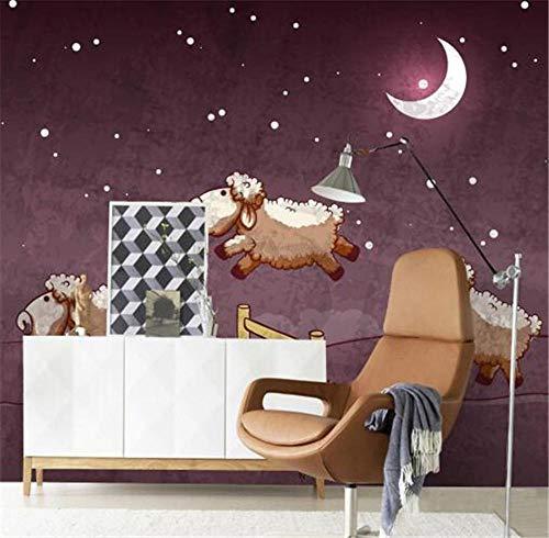 Pared Pintura De Pared Fondos De Pantalla De Dibujos Animados Papel Pintado Mural Púrpura Para Habitación De Niños Fondos De Fotos De Cabra Para Sala De Estar Papeles De Pared Personalizados @ 430 *