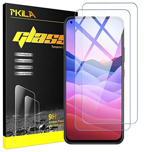 Pkila Panzerglas für ZTE Blade V2020 Schutzfolie Bildschirmschutzfolie aus gehärtetem Glas mit ZTE Blade V2020 Glass Film [9-H-Festigkeit] [Kristallklarheit] [Kratzfest] [No-Bubble]
