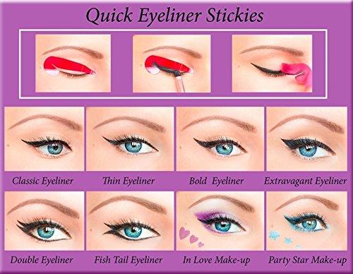 ORIGINAL Stickies delineador de ojos rápido COMPLETE SET 80 uds. Plantillas de maquillaje de ojos pegajosas pegatinas