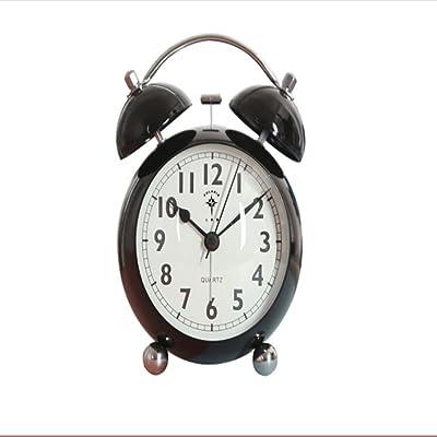 Steaean Reloj Despertador de Metal Silencio Dormitorio ...