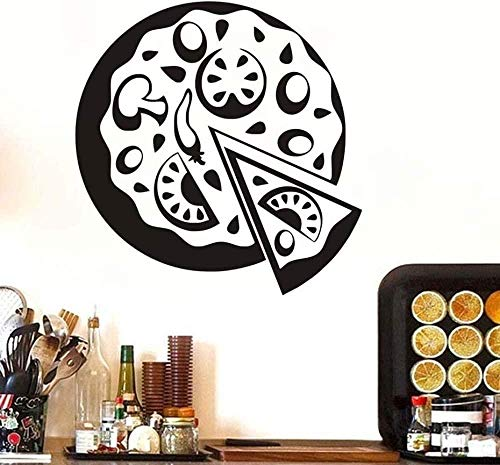 Wandsticker Selbstklebende Diy Wasserdichte Gemüsepizza Home Decal Hintergrunddekoration Shop Küchenfenster Wandbild 58X59cm