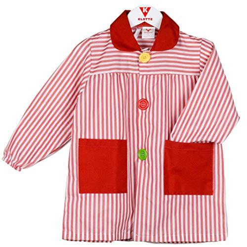 KLOTTZ - Grembiule da bambina, a righe rosso 2