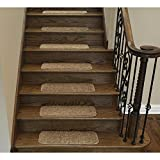 Sweethome Stores Non-Slip Shag Carpet Stair Treads, (9'X26')-14 Pack- Camel Solid