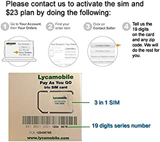 Port in You Existing Number Lycamobile Preloaded Sim Card with 1 Month $23 Plan Service Plan with Unlimited Talk Text and Data