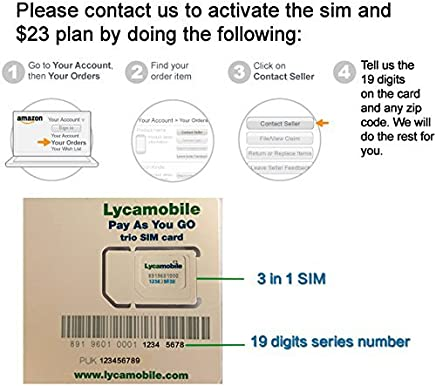 Amazon com: Lycamobile - SIM Cards & Prepaid Minutes: Cell