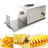 GZZT KITCHEN Commercial Twisted Potato Slicer Electric Spiral Carrot Cutter Multifunctional Vegetable Cutting Machine 110V Potato Tower Machien With Counter