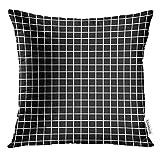 Kinhevao Throw Pillow Trendy Geometric en 80S Style para su teléfono Estuches Throw Pillow Fabrics Leggins Otros jóvenes Almohada Decorativa Decoración para el hogar Almohada Cuadrada