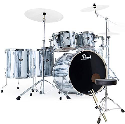 Pearl EXA726XS/C771 Export White Limba Drum Kit + Keepdrum Stool + Sticks