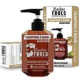 Shampoing à barbe et cheveux SANS SULFATE - 150ml à base Huile d'argan et Huile de Jojoba | Pour l'entretien et le soin de barbe - FABRIQUE EN FRANCE ✮ BARBER TOOLS ✮