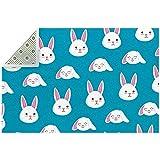 Lindo conejo azul alfombra de área grande para sala de estar,...