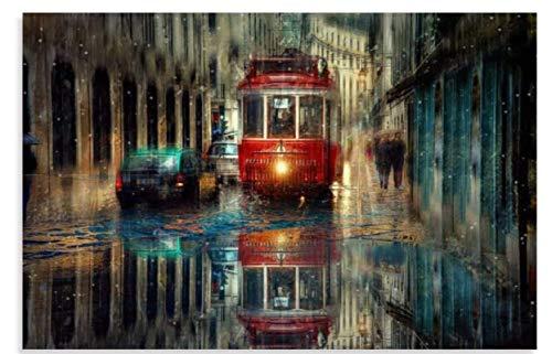 ZYHSB Jigsaw Puzzle 1000 Piezas After The Rain City Carteles De Madera Juguetes para Adultos Juego De Descompresión Ty78Lj