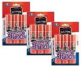 Elmers E579 Jumbo Disappearing Purple School Glue Stick, 1.4 Ounce, 3 Packs of 3 Sticks, 9 Sticks Total