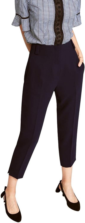 Tara Jarmon  Women's Double Cloth Trousers  Midnight bluee