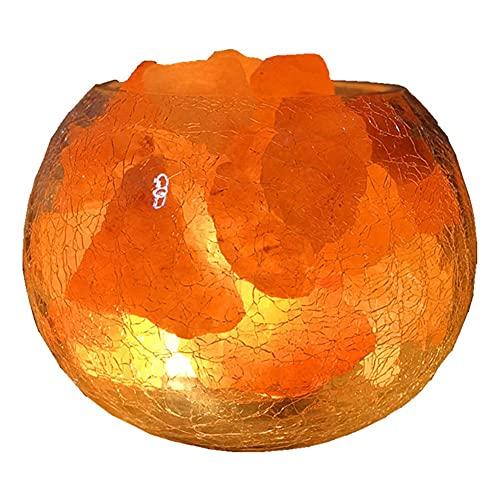 XLEVE Lámpara de Mesa Decorativa lámpara Himalayan Cristal Sal romántica Noche de Cama Luna Noche luz Dormitorio Toque Carga Carga