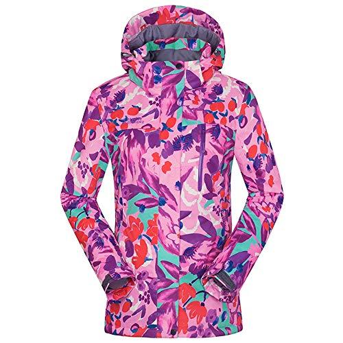 HoGau Adjustable Fit Jacket Comfortabele dames bergwaterdichte ski-jas winddicht bonte print-regenmantel gedrukte regenjas regenjas winter parka