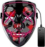 JCT Halloween LED Máscaras Purga Grimace Mask Horror Mask Scary LED Ilumina Máscaras para...