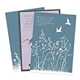 3er Set Trauerkarten mit Umschlägen Erinnerungen