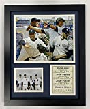Legends Never Die New York Yankees 2009 Baseball World Series Core 4 Collectible   Framed Photo Collage Wall Art Decor - 12'x15'