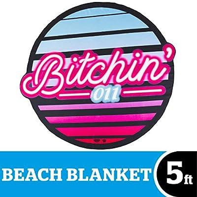 BigMouth Inc Giant Beach Blanket, Oversized Beach Towel, Ulta-Soft Microfiber Towel, Washing Machine Friendly
