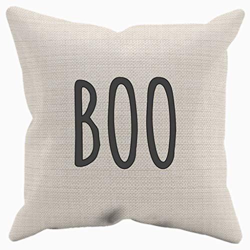 Alicert5II boo kussen met invoegen Halloween kussensloop boo geest heksendecoratie Witchy Trick of Treat Trick behandelen, minimalistisch