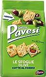 Gran Pavesi Cracker Le Sfoglie alle Olive, Cotte al Forno, 160 g