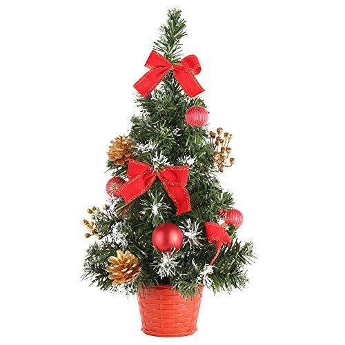MORESAVE Table de Noël Arbre Salle à Manger Bureau Bureau Petit Arbre de Noël décorations (40cm, Rouge)