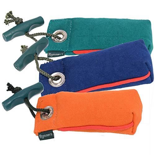 Romneys Suchendummy | Der Mini-Dummy für kleine Hunde nur 100g | Pocketdummy für die Nasenarbeit | Schwimmfähig und mit Wurfgriff (orange)