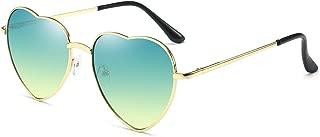 Heart Sunglasses Thin Metal Frame Lovely Heart Style for Women