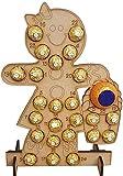 Piaoliangxue Calendario de Adviento Hecho a Mano de Madera - Calendario de Tablero de Cuenta Regresiva de Navidad - Soporte de Soporte de Chocolate para árbol de Navidad - para Adornos del hogar (C)