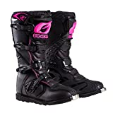 O'Neal 0325-709 Womens New Logo Rider Boot (Black/Pink, Size 9)