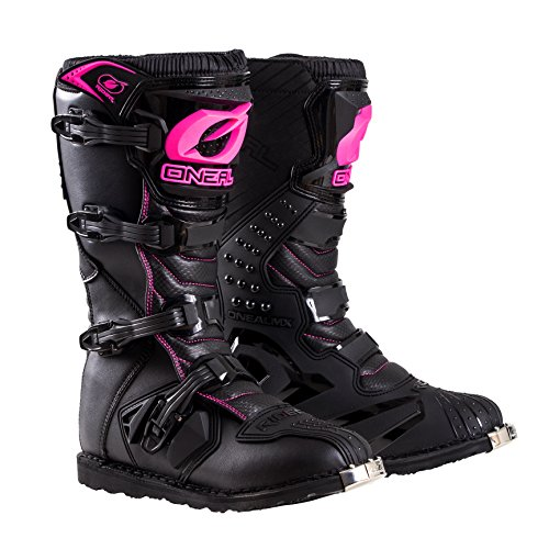 O'Neal 0325-710 Womens New Logo Rider Boot (Black/Pink, Size 10)