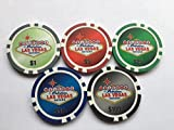 LAS VEGAS POKER CHIP GOLF BALL MARKERS. SET OF 5
