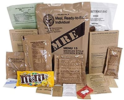 Genuine Military MRE Meal with Inspection Date September 2017 or Newer (Chili with Beans)