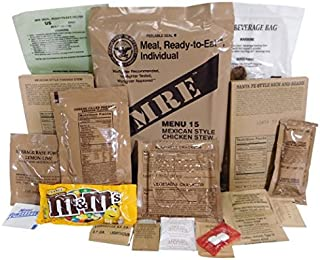 Genuine Military MRE Meal with Inspection Date September 2017 or Newer (Brisket Entree)