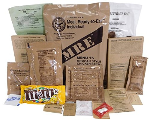 Genuine Military MRE Meal with Inspection Date September 2017 or Newer (Chili Macaroni)