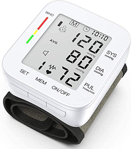 Hong S Blood Pressure Monitor Digital Automatic Wrist Cuffs for Home Use with Large LCD Display