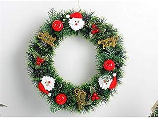 Pengcher Santa Claus Christmas Wreath Door Hanging Ornaments Room Christmas Tree Pendants for Decoration